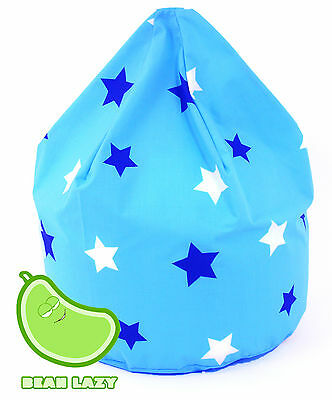 Child Size Blue Stars Bean Bag With Beans By BeanLazy