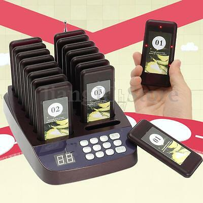 16 Restaurant Coaster Pager Guest Call Wireless Paging Queuing Calling System AU