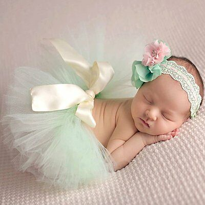 efd31f3160b6 Cute Toddler Newborn Baby Girl Tutu Skirt & Headband Photo Prop Costume  Outfits