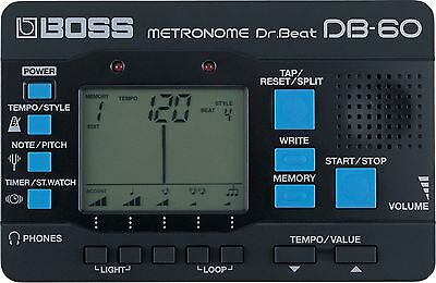 Boss DB-60 Dr Beat Metronome - Black, LCD screen, with pitch tuner