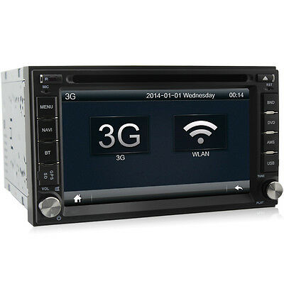Double 2 DIN Car Stereo GPS Sat Nav CD DVD Player Radio Bluetooth USB Navigation