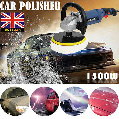 "Electric Variable Speed Car Polisher Buffer Waxer Sander Detail Boat 7"" w/CASE"