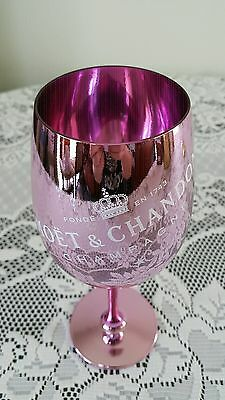 Moet and Chandon Pink Glass Goblet!! New! Very Rare!! Stunning!!