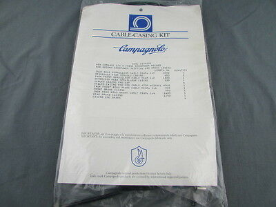 NOS CAMPAGNOLO RECORD ERGO BRAKE & SHIFTER BLACK CABLE CASING KIT c1980