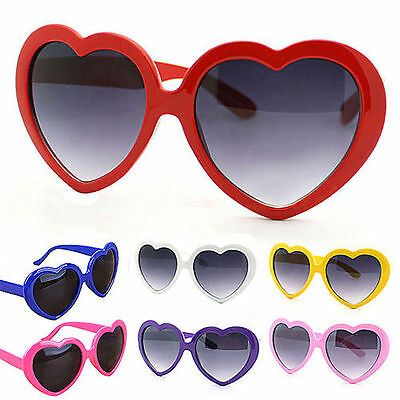 Retro Lolita Love Heart Shaped Sunglasses Large Fashion Fancy Dress Hen Party