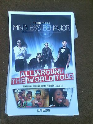 Mindless Behavior All Around The World Tour Poster Signed