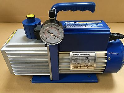 Air conditioning Vacuum pump Vac pump 1 HP 10cfm C/w Vac Gauge and Solenoid