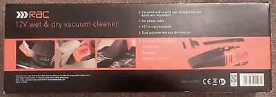 Rac Hil0501 12V Wet And Dry Vac Vacuums Cleaning Care Car Garage Workshop