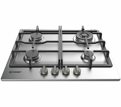 Brand New INDESIT Aria THP 641 W/IX/I Gas Hob - Stainless Steel