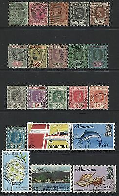 Mauritius - Used Stamps Lot Queen Victoria King George V King George Vi Qeii