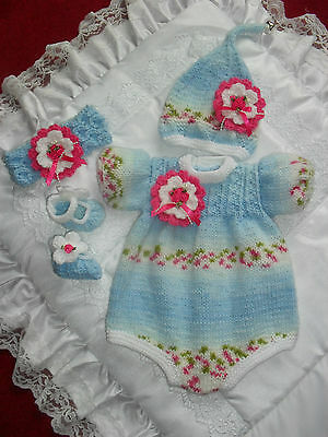 "Hand Knitted Romper Set For A 16""-18"" Reborn Fantasy Doll Suit Pixie/Fairy/Elf*"