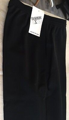 Vintage Ladies Black Ski Pants Sz 14 NWT