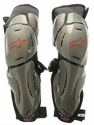 Alpinestars Silver-Red-Black 2012 Bionic SX Pair of MX Knee Guard