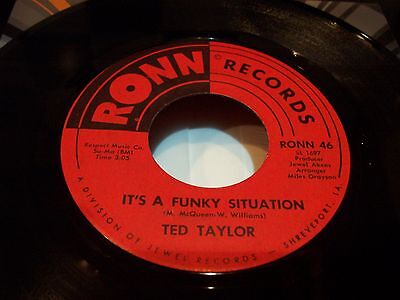 Ted Taylor , It's A Funky Situation . Listen To Both Sides .