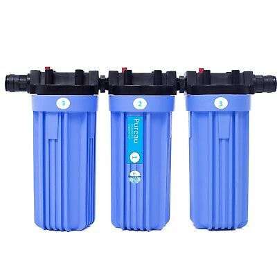 Pureau  1 H+  saltless water softener and filtration system. For1 bathroom home