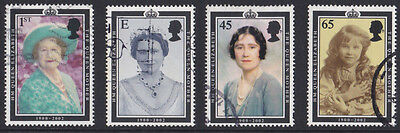 GB 2002 Queen Elizabeth the Queen Mother Commemoration stamps used x 4 SG2280-83