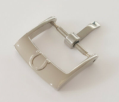 NEW 14MM OMEGA STAINLESS STEEL WATCH STRAP BUCKLE / Silver