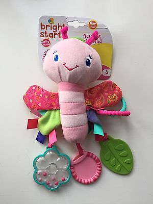 Bright Starts Baby Soft Toy Rattle - Flutter And Friends - Lamaze Style BNWT