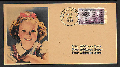 Personalized 1930s Shirley Temple Photo Postcard & Autograph Reprint  *023