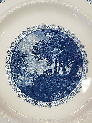 Vintage Royal Cauldon Bristol Ironstone Blue & White Breakfast Plate - Free Post