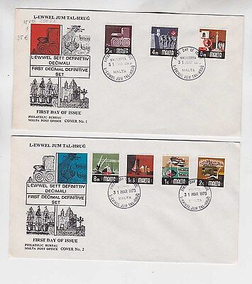 malta 1973 Sc 454/68 set on FDC          g989