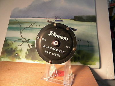 Vintage Johnson No. 3 Magnetic Fly Rod Reel Usa Made Bass Trout Walleye Bluegill