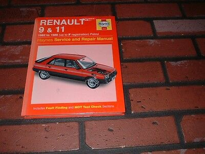 New & Sealed Haynes Manual For Renault 9 & 11. 1982 To 1989. Up To F Reg.