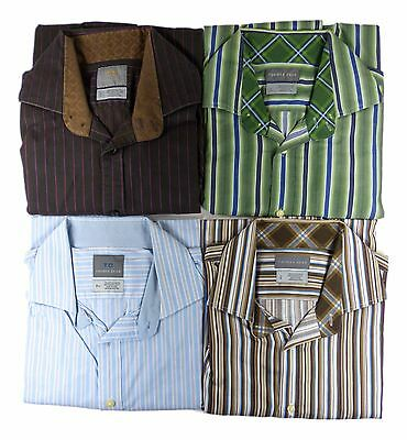 Lot of 4 Thomas Dean Shirts Large Black Brown Green Blue