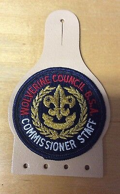 Bsa Wolverine Council Commissioner Staff New  Leather Pocket Patch