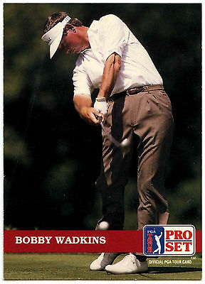 Bobby Wadkins #56 PGA Tour Golf 1992 Pro Set Trade Card (C322)