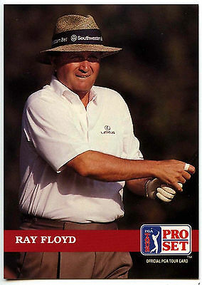Ray Floyd #108 PGA Tour Golf 1992 Pro Set Trade Card (C322)