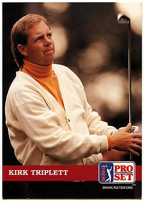 Kirk Triplett #116 PGA Tour Golf 1992 Pro Set Trade Card (C322)