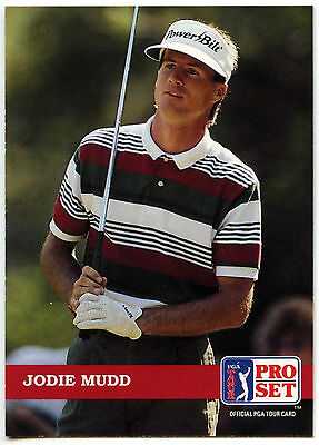 Jodie Mudd #8 PGA Tour Golf 1992 Pro Set Trade Card (C322)