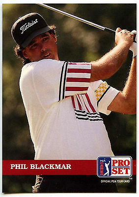 Phil Blackmar #104 PGA Tour Golf 1992 Pro Set Trade Card (C322)