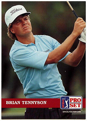 Brian Tennyson #109 PGA Tour Golf 1992 Pro Set Trade Card (C322)