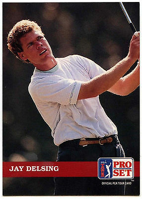 Jay Delsing #93 PGA Tour Golf 1992 Pro Set Trade Card (C322)