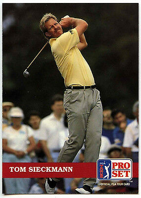 Tom Sieckmann #40 PGA Tour Golf 1992 Pro Set Trade Card (C322)