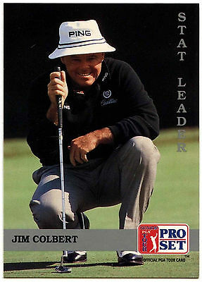 Jim Colbert #276 PGA Tour Golf 1992 Pro Set Trade Card (C322)