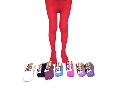 Girls warm winter Thermal Tights Pantyhose Green Red White Navy Blue Pink 2-12yr