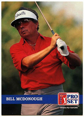 Bill McDonough #268 PGA Tour Golf 1992 Pro Set Trade Card (C322)