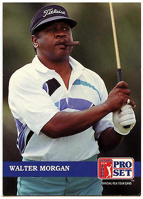 Walter Morgan #266 PGA Tour Golf 1992 Pro Set Trade Card (C322)