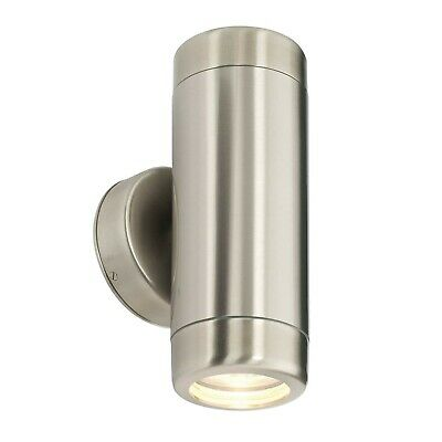Saxby - Atlantis - 35W Twin Marine Grade Stainless Steel IP65 Up Down Wall Light