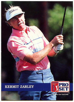 Kermit Zarley #259 PGA Tour Golf 1992 Pro Set Trade Card (C322)