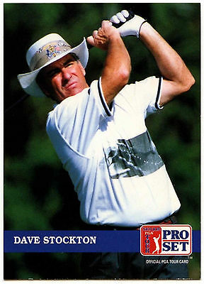 Dave Stockton #258 PGA Tour Golf 1992 Pro Set Trade Card (C322)