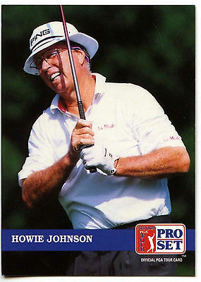 Howie Johnson #254 PGA Tour Golf 1992 Pro Set Trade Card (C322)
