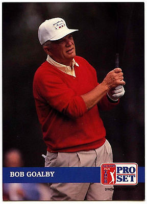 Bob Goalby #245 PGA Tour Golf 1992 Pro Set Trade Card (C322)