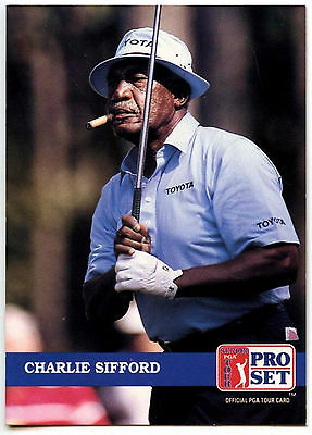 Charlie Sifford #243 PGA Tour Golf 1992 Pro Set Trade Card (C322)