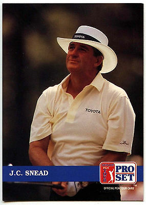 J.C. Snead #216 PGA Tour Golf 1992 Pro Set Trade Card (C322)