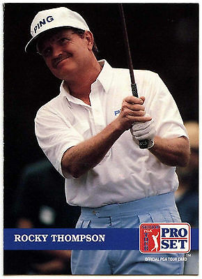 Rocky Thompson #215 PGA Tour Golf 1992 Pro Set Trade Card (C322)