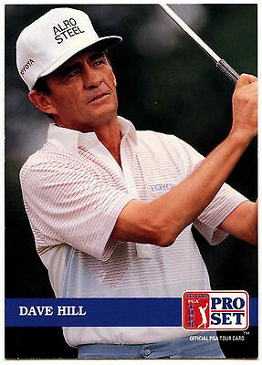 Dave Hill #209 PGA Tour Golf 1992 Pro Set Trade Card (C322)